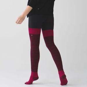 RARE Lululemon Savasana Thigh Sock Wine Leg Warmer